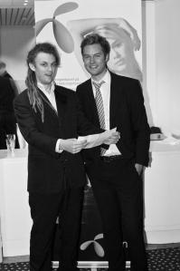 To glade vinnere av prisen Årets Gründer